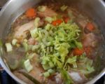 homemade chicken soup recipe - add the veg