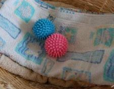 drier balls and towel