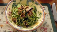 pasta with wild garlic