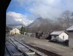 Alpine view from train near Grenoble