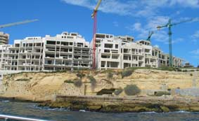 building site in Malta