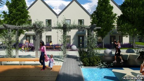 Bicester eco village planned view
