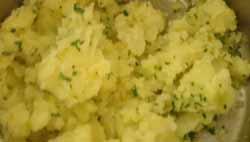 potato and chive mash