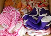 cloth nappies can be colourful