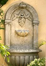 solar wall fountain
