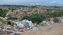 industrial pollution causes - fly-tipping in Malta