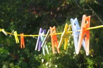 best laundry detergent - colourful pegs, perhaps not so eco-friendly!
