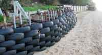 recycled tyres as sea wall