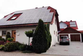 solar arrays on two houses