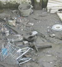 industrial pollution causes land pollution - tide rubbish, a form of fly-tipping