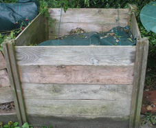 how to make compost - wooden compost bin