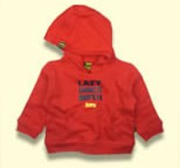 Lazy Baby red hoodie