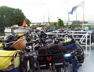 bikes on Enkhuizen ferry