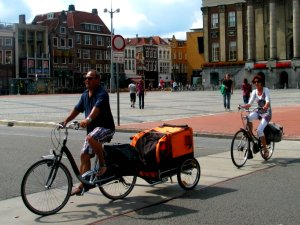 bike with trailer in Groningen