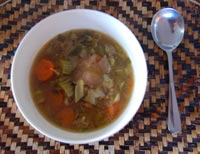 chicken soup ready to eat