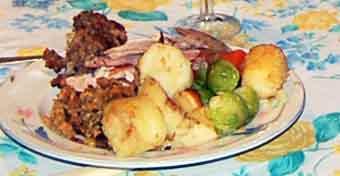 organic Christmas dinner