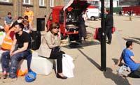 outdoor coffee break by St Pancras