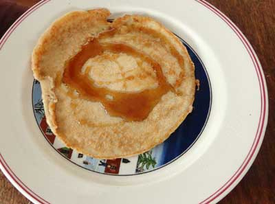 pancake making - ready to eat!